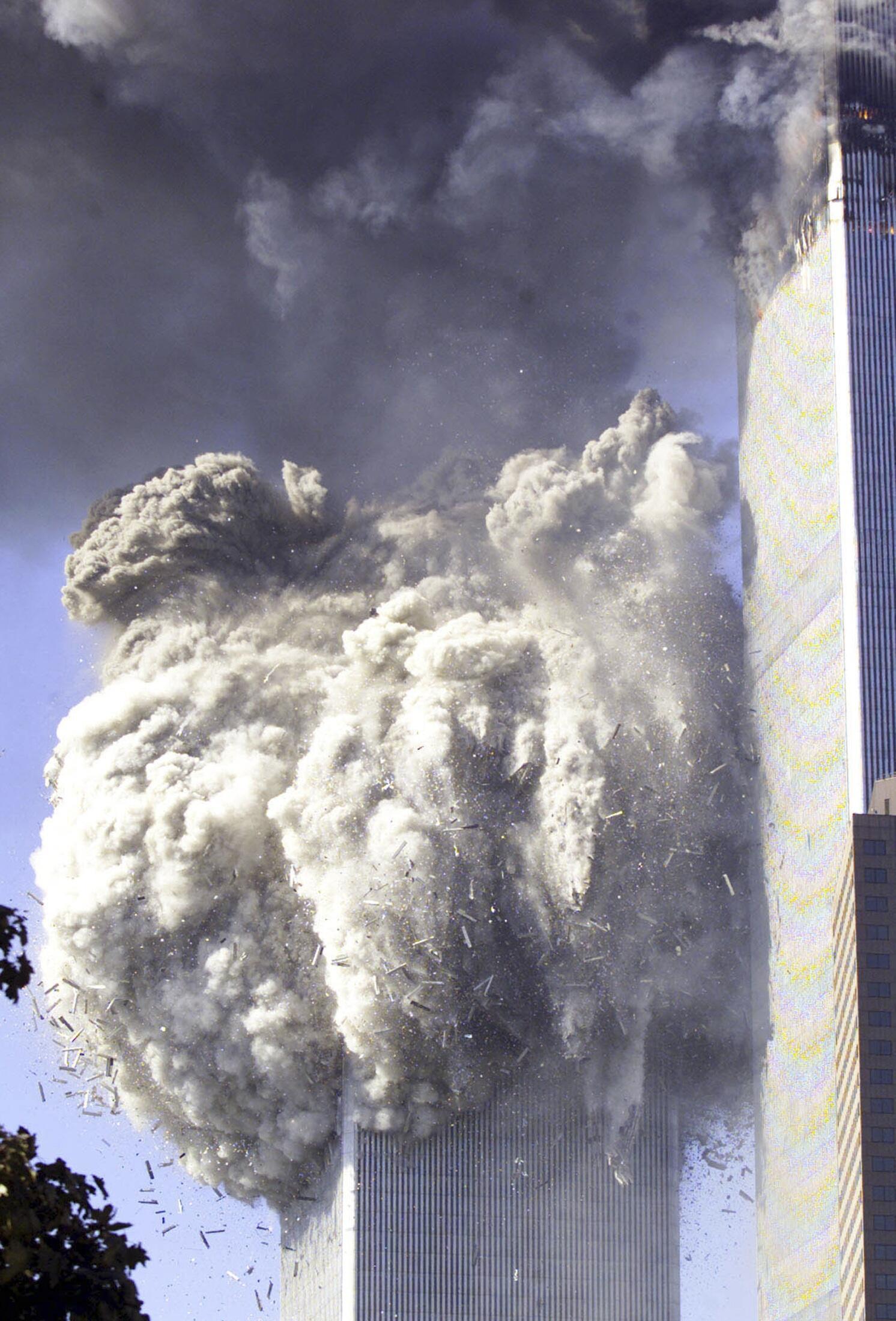Effondrement de la tour sud du World Trade Center.