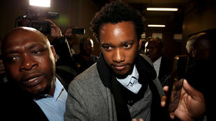 Duduzane Zuma, son of South African former president Jacob Zuma, at his trial last July.