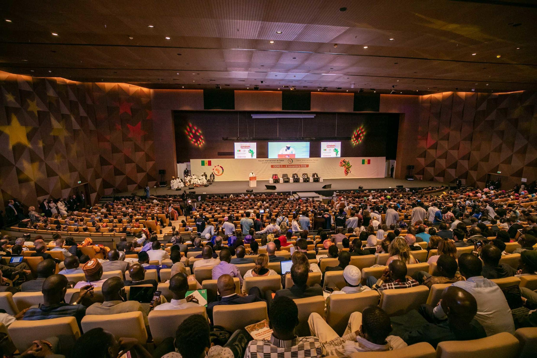 La salle plénière au Centre international de Conférence Abdou Diouf où s'est déroulé le Forum de Dakar 2018.