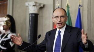 No primeiro-ministro Enrico Letta põe à prova sua habilidade como negociador nesta quinta-feira