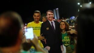 巴西民眾慶祝博爾索納羅大選獲勝資料圖片