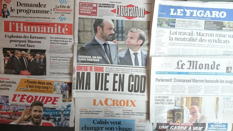 Revista de Imprensa francesa da quinta-feira 29 de Junho de 2017.