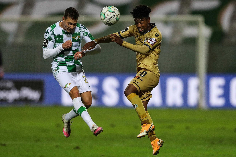 Angel Gomes, médio angolano, apontou o único tento do Boavista frente ao Moreirense (1-1).