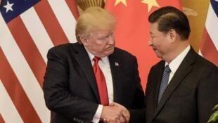 Donald Trump e Xi Jinping em Pequim, Novembro de 2017.