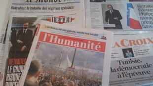Primeiras páginas dos jornais franceses de 13 de setembro de 2019