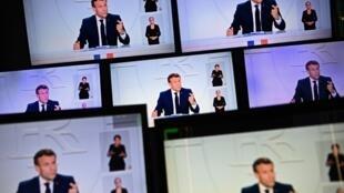 Emmanuel Macron ametangaza hatua mpya za kukabiliana na COVID-19 Jumatano hii, Oktoba 14, 2020.