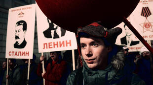 На праздновании 97-летия Октябрьской революции. Москва, 7 ноября 2014 г.
