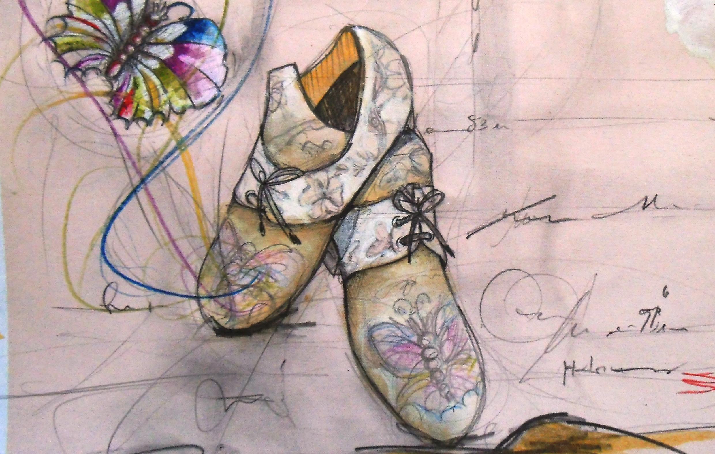 Dessin réalisé à partir d'Ecouter Paris chez «le peintre bottier».