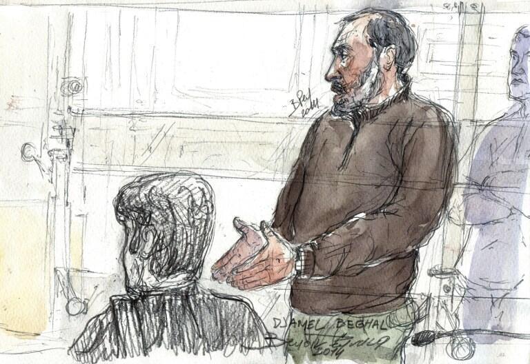 Допрос Джамеля Бегхаля в суде во время апелляционного слушания 7 октября 2014 года