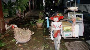 Hiện trường một vụ nổ vào đêm ngày 11/08/2016 tại khu nghỉ mát bên bờ biển Thái Lan Hua Hin.