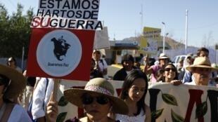 Pobladores de El Paso (Texas) apoyaron la caravana por la paz liderada por el poeta Javier Sicilia.