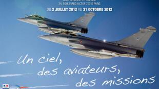 L'affiche de l'exposition photos de l'armée de l'air, « un ciel, des aviateurs, des missions ».