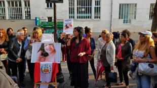 Un hommage rendu à Vanessa Campos (sur la photo) assassinée dans la nuit du 16 au 17 août 2018, à l'initiative de l'Association Paris T.