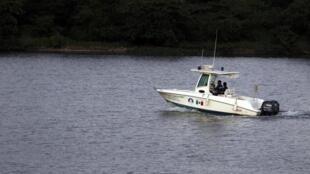 Une patrouille de sécurité dans le port de Lazaro Cardenas, le 20 novembre 2013.