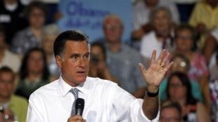 Le candidat républicain à la présidentielle, Mitt Romney, le 18 juillet 2012.
