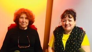 Marie-Caroline Aubert et Natalie Beunat, éditrices, traductrices et auteures.