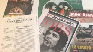 Capas de alguns semanários editados em França