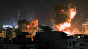 Israel continued its barrage of Gaza overnight, setting the sky ablaze