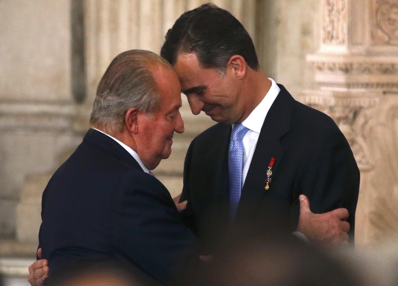 Juan Carlos et Felipe VI, le 18 juin 2014.