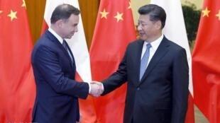 2015年11月,習近平在北京同波蘭總統杜達舉行會談。