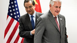 美国新国务卿蒂勒森首次与中国外长王毅在波恩G20外长会议期间举行正式会晤