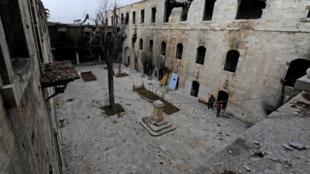 Cảnh một trường học bị phá hủy ở Aleppo. Ảnh ngày 17/12/2016 2016.