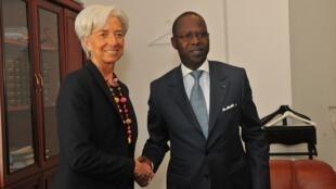La directrice du FMI Christine Lagarde et le Premier ministre sénégalais Mahamed Dionne.