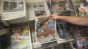 Báo chí Anh liên tục nói về Brexit và hậu quả. (Ảnh chụp ngày 25/06/2016)
