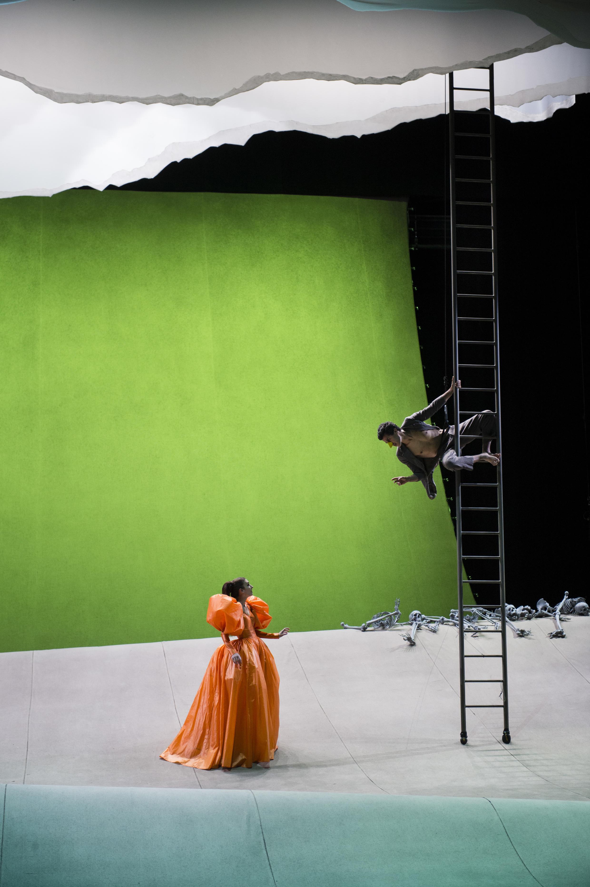 Laurent Pelly et Agathe Mélinand ont présenté leur création: L'oiseau vert, de l'italien Carlo Gozzi.