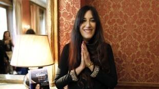 L'écrivaine israélienne Zeruya Shalev après la remise du prix Femina étranger 2014 pour son roman Ce qui reste de nos vies, publié aux éditions Gallimard.