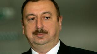 Le président Ilham Aliev, à Bakou, le 18 mars 2009.