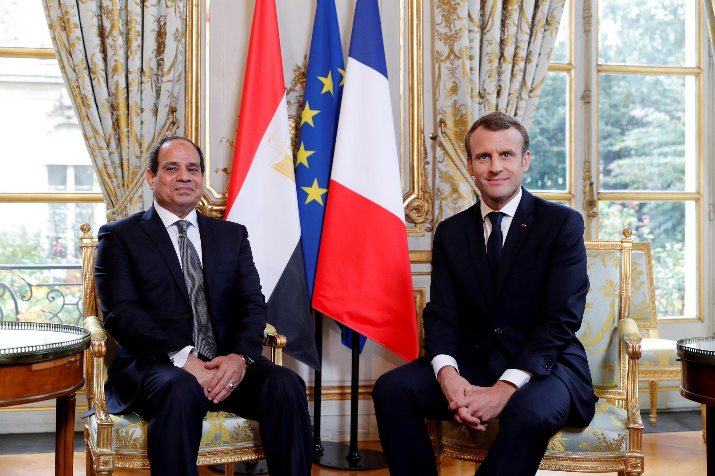 Президенты Франции и Египта в Париже 24 октября 2017.