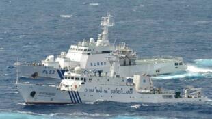 China survaillance ship and Japan's sécurtity ship septembre 2012