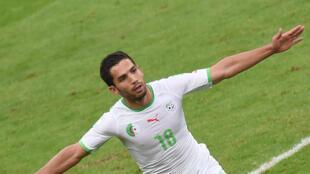 L'international algérien Abdelmoumene Djabou qui évolue à l'ES Sétif.