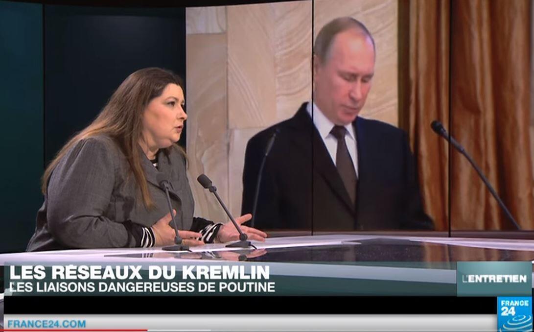 Автор книги «Сети Кремля во Франции» Сесиль Вессье в студии телеканала FRANCE 24