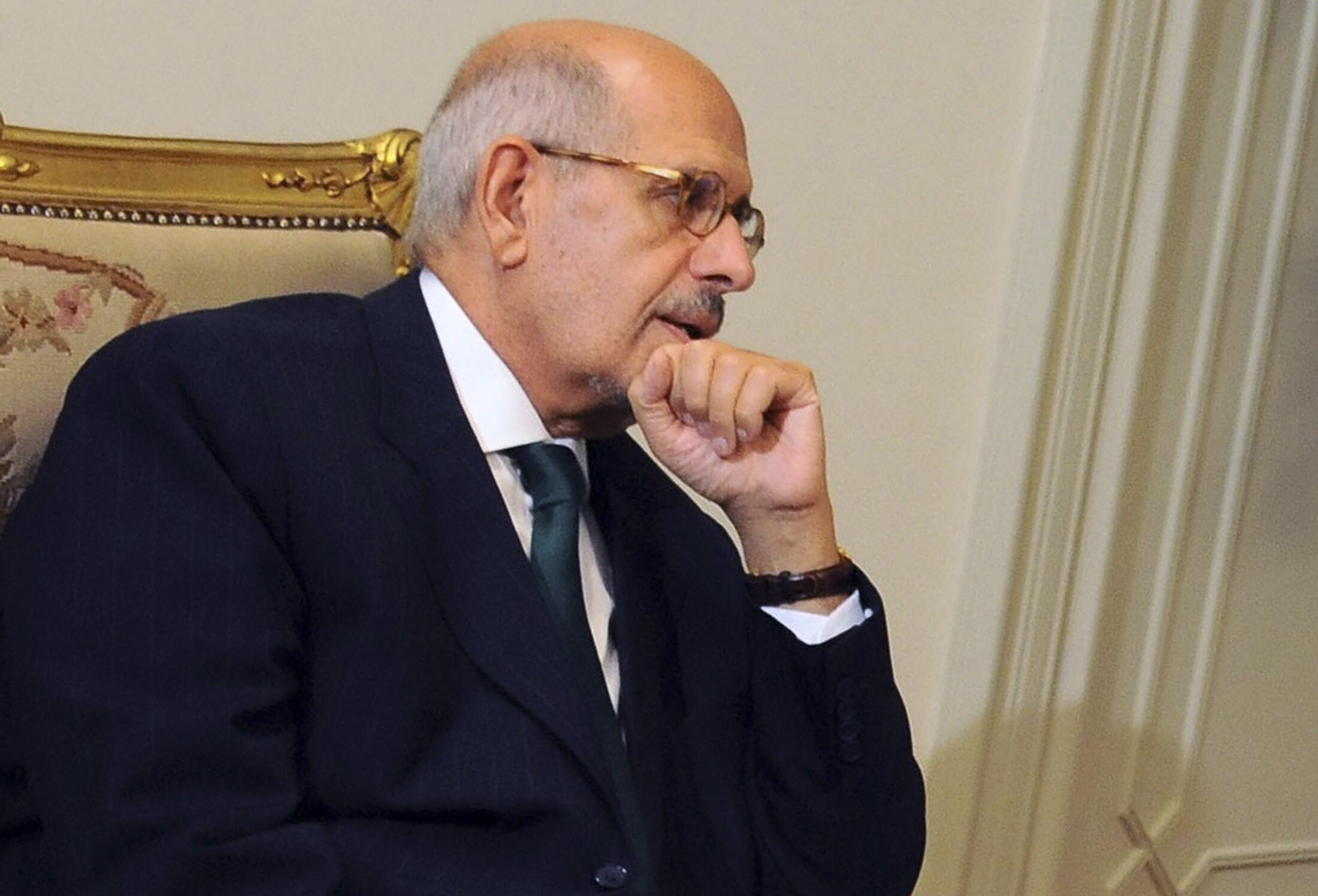 Временно исполняющий обязанности президента Египта Адли Мансур в президентском дворце 06/07/2013
