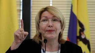 L'ancienne procureure générale du Venezuela, Luisa Ortega Diaz, lors d'une réunion avec des représentants de l'alliance commerciale régionale latino-américaine Mercosur, à Brasilia, le 23 août 2017.