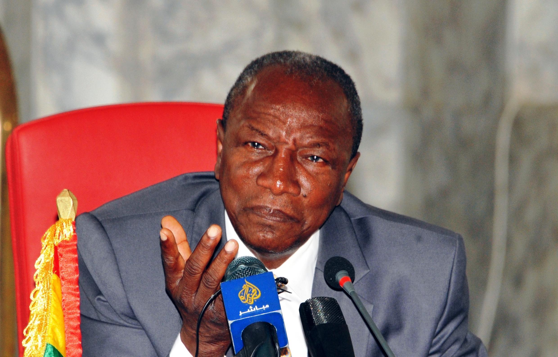 Presidente guineense Alpha Condé, mediador da CEDEAO na Guiné-Bissau