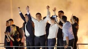 Los partidarios de Ekrem Imamoglu celebran su victoria, este 23 de junio de 2019 en Estambul, Turquía.