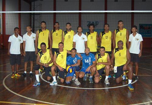 Atlético de São Vicente, campeão cabo-verdiano de voleibol em 2013 e 2014