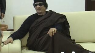 Marigayi Muammar Gaddafi a lokacin da yake bisa iko