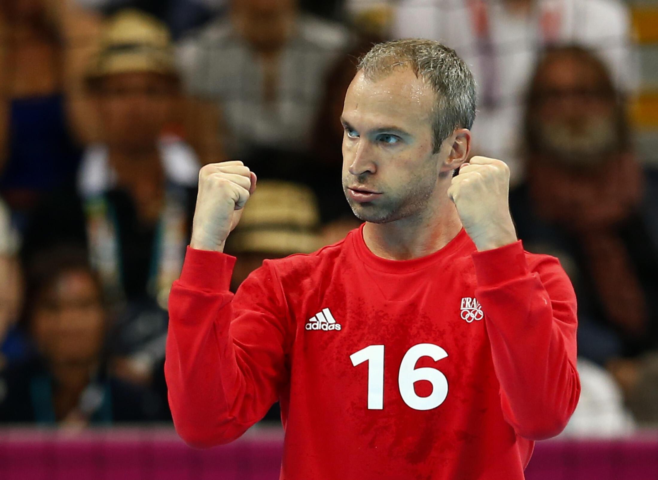 Thierry Omeyer, gardien de but de l'équipe de France, a de nouveau multiplié les exploits contre la Suède en finale, dimanche 12 août.