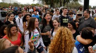 Sinh viên học sinh biểu tình sau vụ thảm sát ở trường Marjory Stoneman Douglas ở Parkland, Florida, Hoa Kỳ, 20/02/2018.