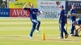 Ben Stokes practising before England's ODI against Ireland in 2013
