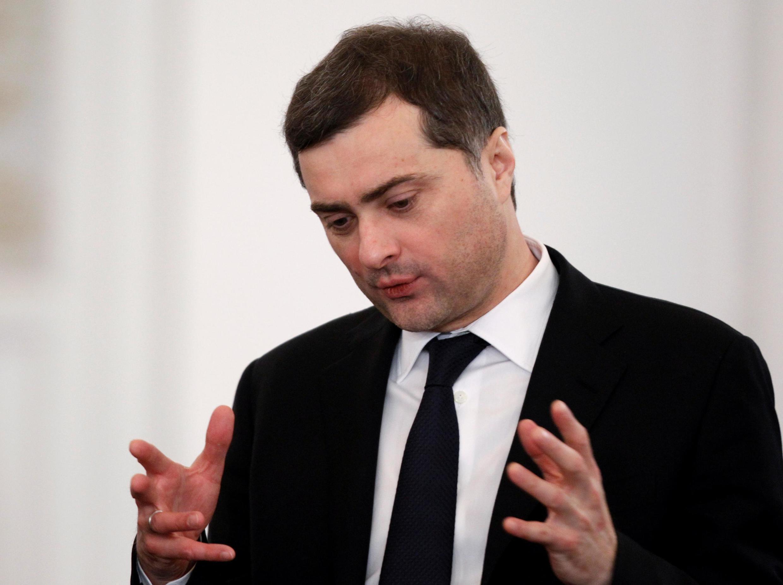Vladislav Sourkov, conseiller de Vladimir Poutine en charge notamment de l'Ukraine et de la Géorgie, a été limogé en février 2020.