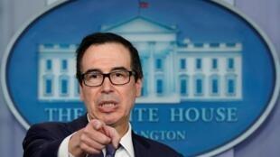 Bộ trưởng Tài Chính Mỹ Steve Mnuchin ngày 10/01/2020 công bố các lệnh trừng phạt nhắm vào các quan chức và công ty của Iran. (Ảnh minh họa chụp ngày 11/10/2019)