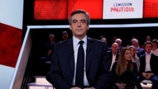 François Fillon invité de L'Emission politique sur France 2, jeudi 23 mars.
