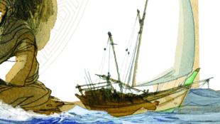 """""""Les Voyages d'Ibn Battûta"""", de Joël Alessandra et Akalai Lofti, aux éditions Dupuis, p.117."""