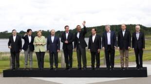 Os líderes do G8 posam na Irlanda do Norte, onde se reuniram nos dias 17 e 18 de junho de 2013.