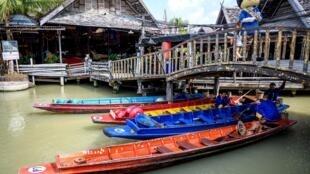 Một góc khu chợ nổi Pattaya, Thái Lan, nơi trước dịch virus corona luôn tấp nập du khách Trung Quốc. Ảnh chụ ngày 12/02/2020.